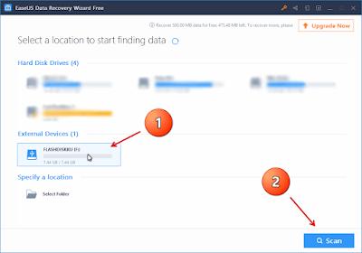 Mengembalikan File Yang Terhapus Dengan EaseUS Data Recovery Wizard