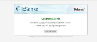 survey 3 clix Tips dan Trik Sukses Cara mengerjakan Survey di Clixsense