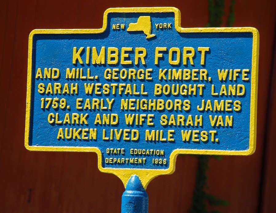 Kimber Fort, New York State Historical Marker