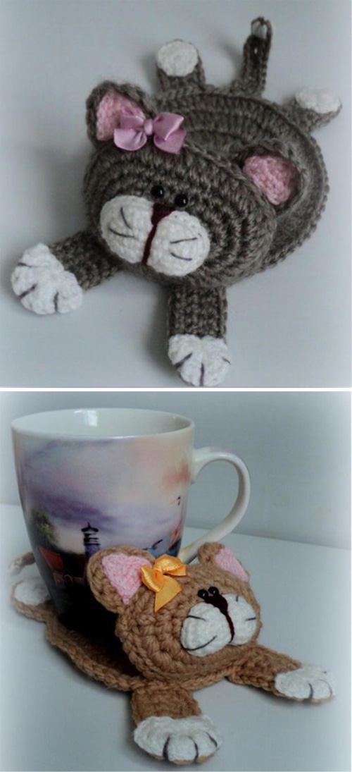 Cat Stand Under the Cup - Free Pattern