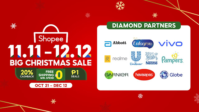 Key highlights of the Shopee 11.11 - 12.12 Big Christmas Sale