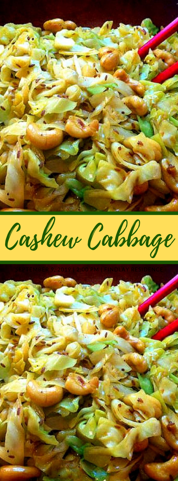 Cashew Cabbage #vegetarian #salads