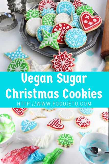 Vegan Sugar Christmas Cookies