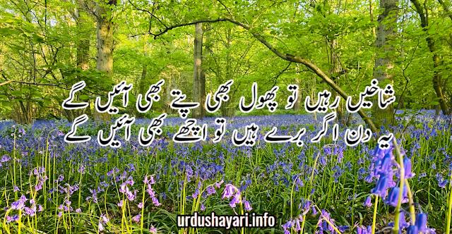 beautiful collection of Urdu Motivational Shayari- 2 lines urdu poetry background image