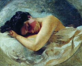 Макаров Иван Кузьмич (1822-1897) «Девушка со склоненной головой»