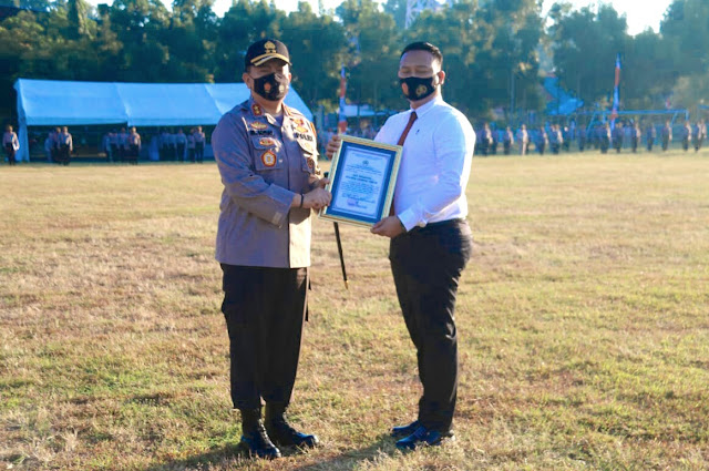 Hebat, Kasat Reskrim Polres Lotim raih penghargaan Kapolda NTB