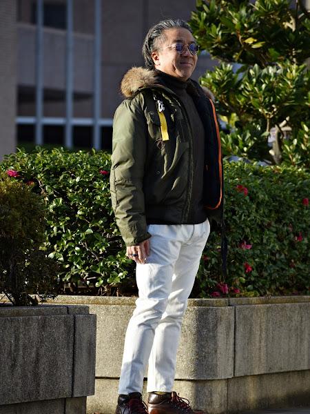 40代メンズのダウンジャケットのコーディネート