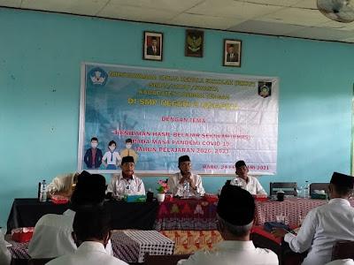 PLT Dinas Pendidikan Nazili saat acara MKKS tingkat SMP di SMPN 2 Janapria Loteng kemarin