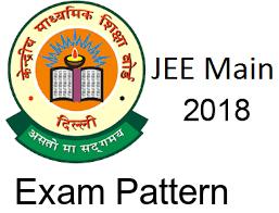 JEE Main 2018 Exam Pattern