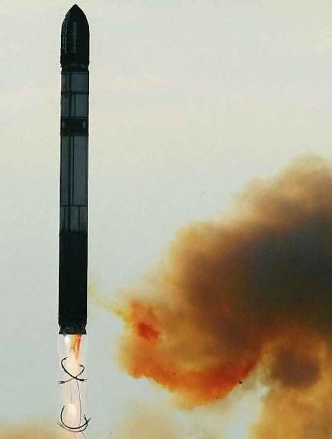 O míssil balístico intercontinental russo R-36MSS-18 apelidado 'Satan'.