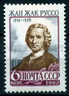 USSR 1962 year Anniversary of Jean-Jacques Rousseau