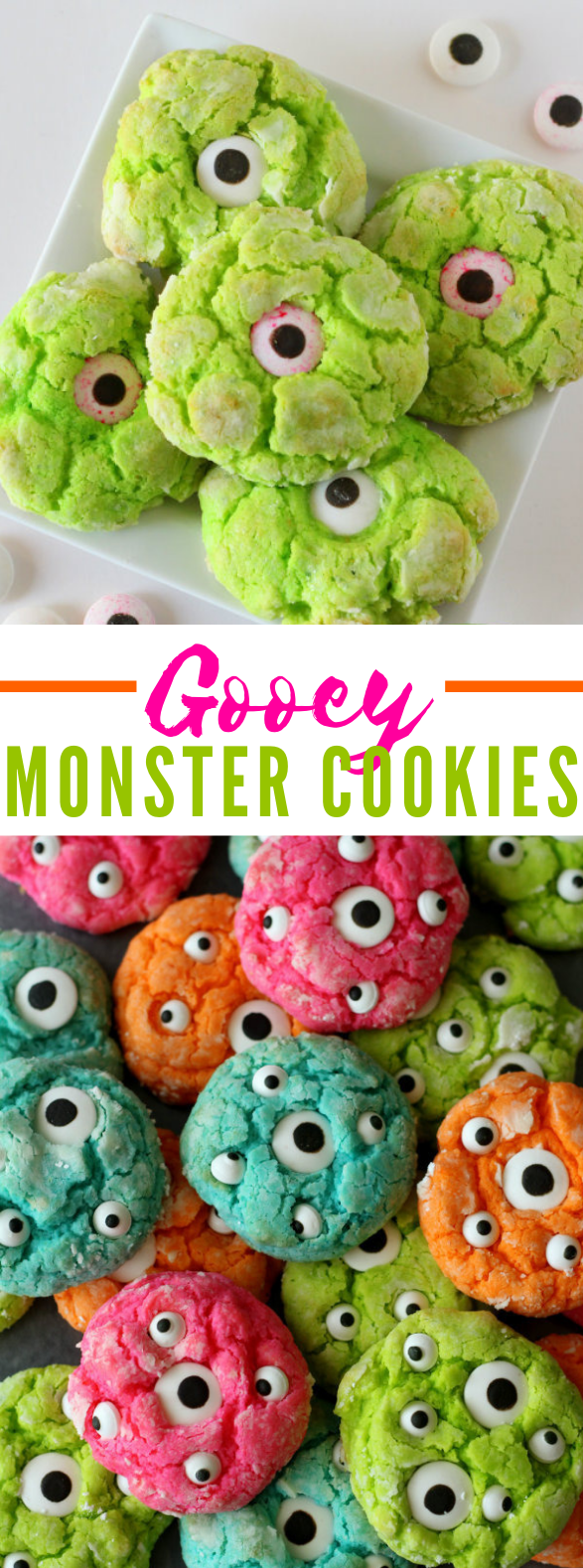 GOOEY MONSTER COOKIE RECIPE #desserts #holiday