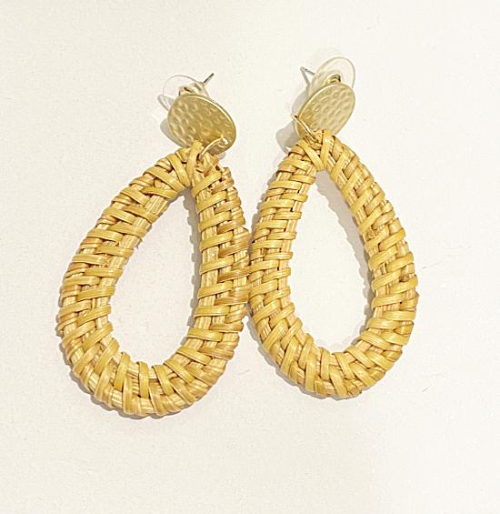 hoop earrings with a post