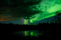 Aurora over Fort Nelson