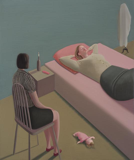 Prudence Flint, pinturas, imagenes de soledad femenina bonitas, chidas de arte inspirador, mujer pensativa,