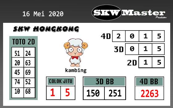 Prediksi Togel Hongkong Sabtu 16 Mei 2020 - SKW Master