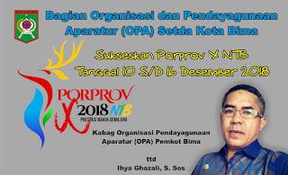 Sukseskan Porprov NTB ke-X di Kota Mataram