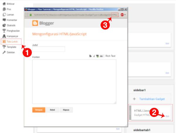 Cara Mengetahui Id Dari Widget Yang Ada Di Blog