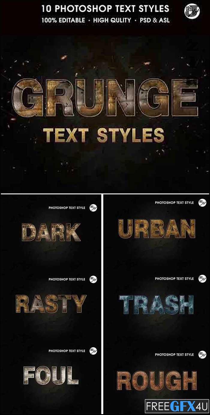 Grunge Text Styles