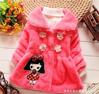 Model Baju Mantel Bayi Lucu Warna Pink Terbaru 5