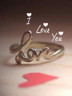love word wrtten on ring-love ring