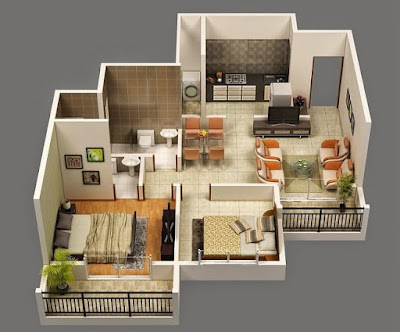 Contoh Desain Interior Rumah Tipe 36 Luas 60 Minimalis