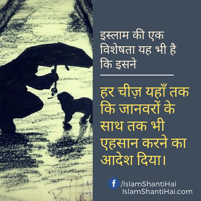 इस्लाम ने हर चीज़ यहाँ तक कि जानवरों के साथ तक भी एहसान करने का आदेश दिया। इस्लाम की विशेषताएं | इस्लामिक कोट्स स्टेटस इन हिंदी | Quotes Status in Hindi Images by Ummat-e-Nabi.com
