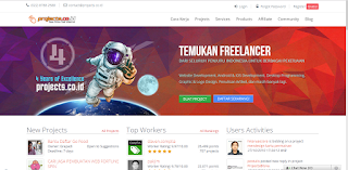 website projects.co.id untuk freelancer mencari tambahan penghasilan