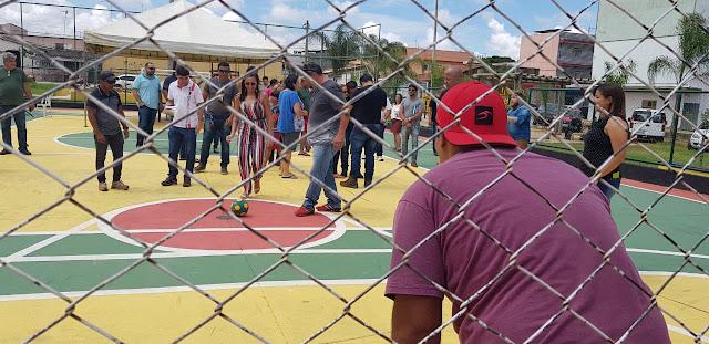 """Revitalização de praça no Setor """"O"""" é entregue pela Administração de Ceilândia"""