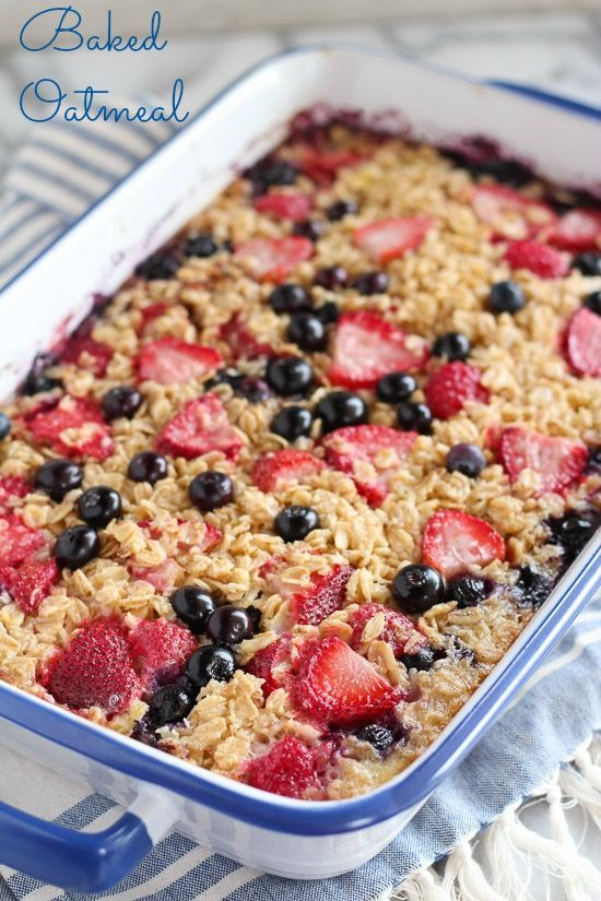 MAKE-AHEAD BAKED OATMEAL FOR BREAKFAST #recipes #healthymeals #quickhealthymeals #food #foodporn #healthy #yummy #instafood #foodie #delicious #dinner #breakfast #dessert #lunch #vegan #cake #eatclean #homemade #diet #healthyfood #cleaneating #foodstagram