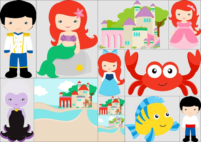 Little Mermaid Kids Clip Art.