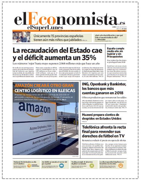 EL SUPERLUNES. Edición de el diario El Economista del 15 de Julio 2019.