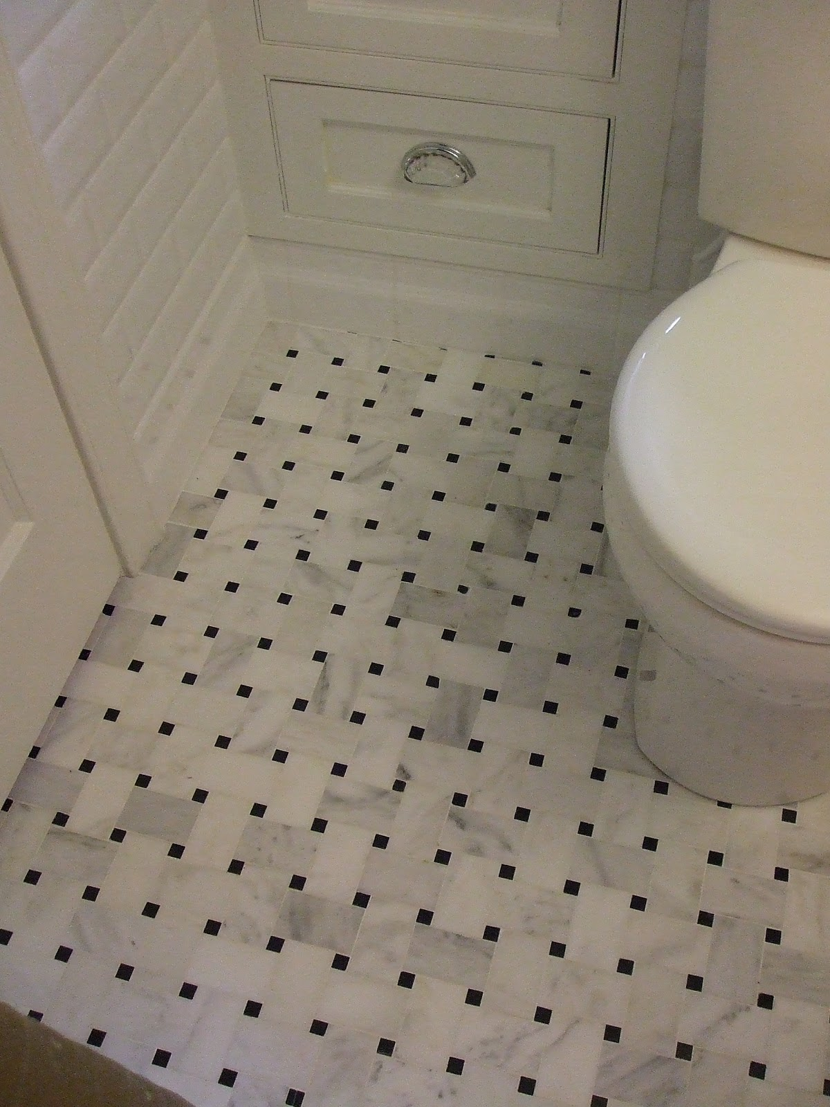 Tile Floor Vintage Bathroom