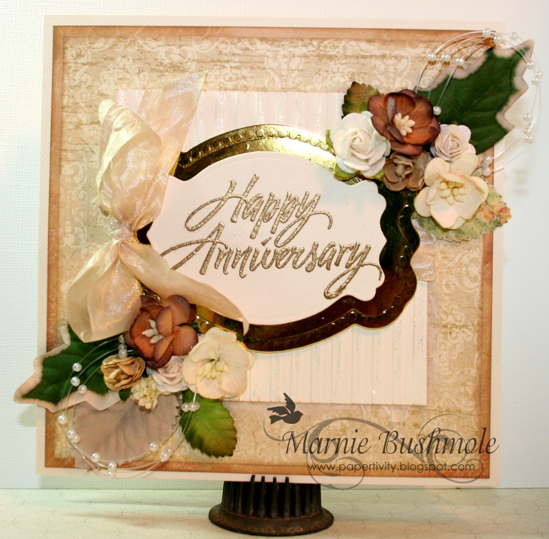 Papertivity: 50th Wedding Anniversary Card