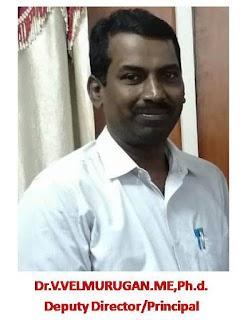 Dr.V.Velmurugan.ME,Ph.D. Deputy Director/Principal Govt ITI Trichy