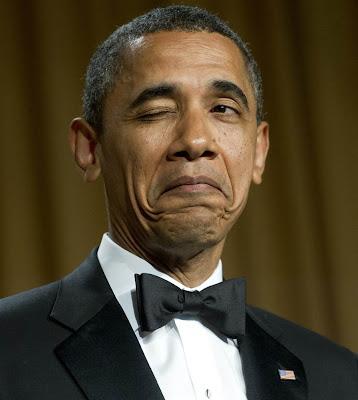 Hình ảnh chế hài hước của Obama - Cảm xúc vui, obama nhay mat