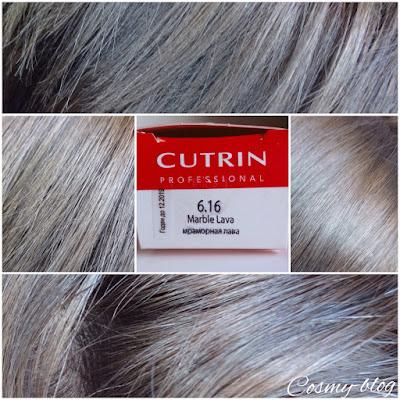 Исходный цвет: волосы, окрашенные Кутрин (Cutrin) тон 6.16 Мраморная лава (Marble Lava):