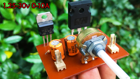 high current dc power supply using lm317 and transistor