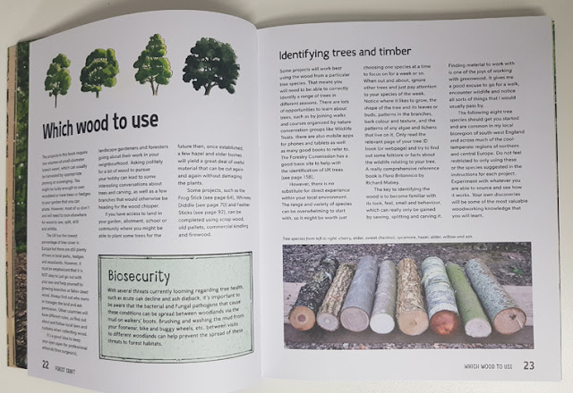 Forest Craft book explains which woods to use when