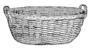 basket laundry woven illustration digital vintage clipart