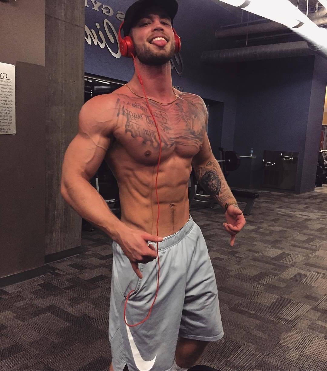 beefy-frat-jock-college-bro-baller-shorts-shirtless-muscle-pecs-biceps-sexy-mad-smile-cap