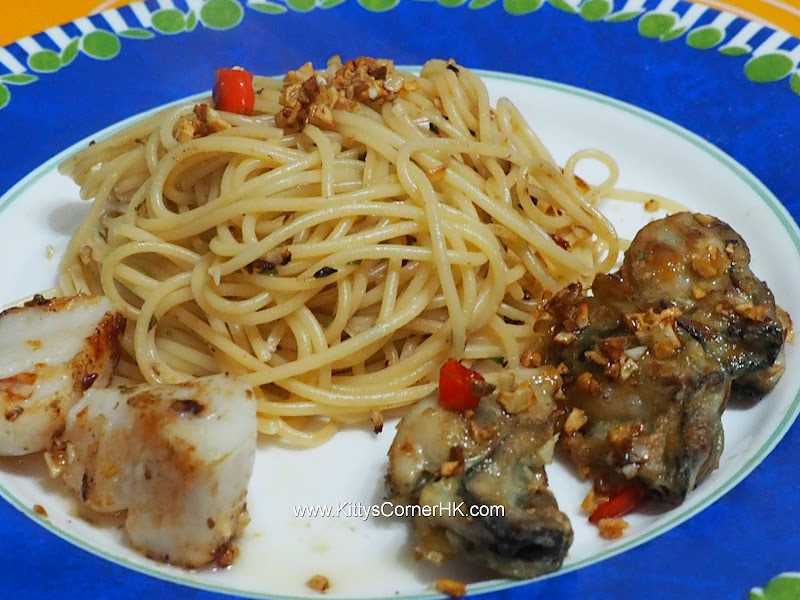 Lemongrass Oyster Spaghetti recipe 香茅牡蠣意粉自家食譜