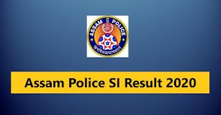 assam-police-si-result-2020