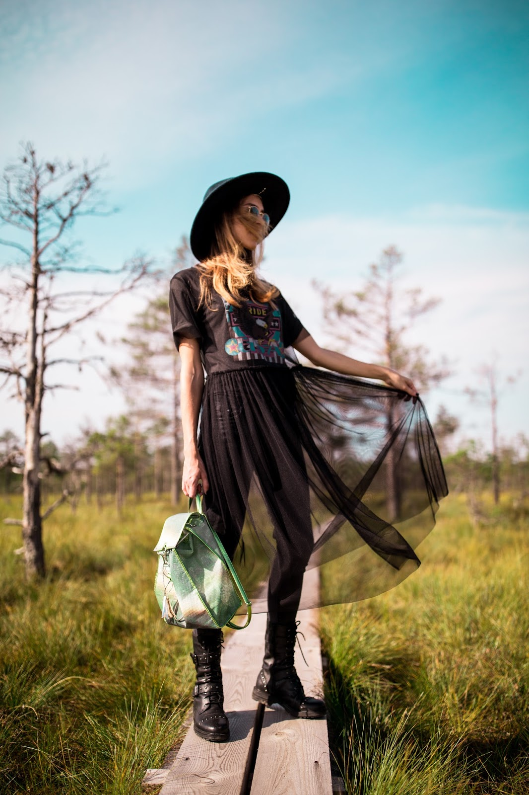 black see through mesh tulle dress outfit