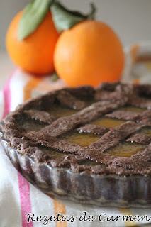 Crostata de chocolate y naranja