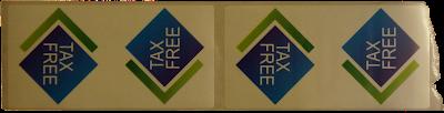 Tax free refund seal sticker used in Georgia