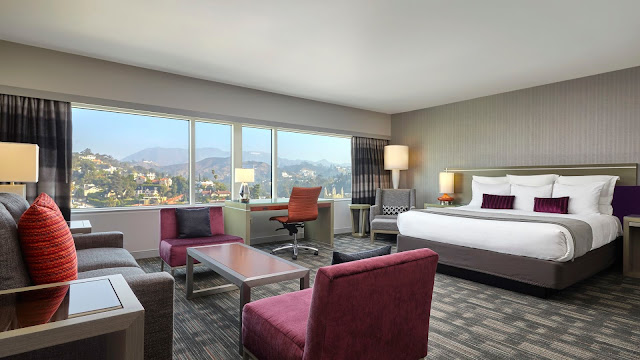 Loews Hollywood Hotel is a unique one-of-a-kind luxury CA hotel located at the base of the Hollywood Hills in Hollywood California.