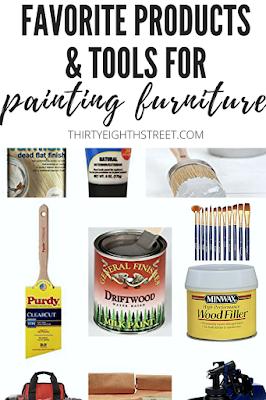 best paint brands, best chalk paint for furniture, best paint brushes for furniture, best wood filler, best paint brushes