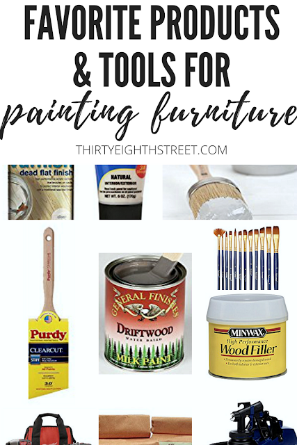 best paint brands, best chalk paint for furniture, best paint brushes for furniture, best wood filler, best paint brushes