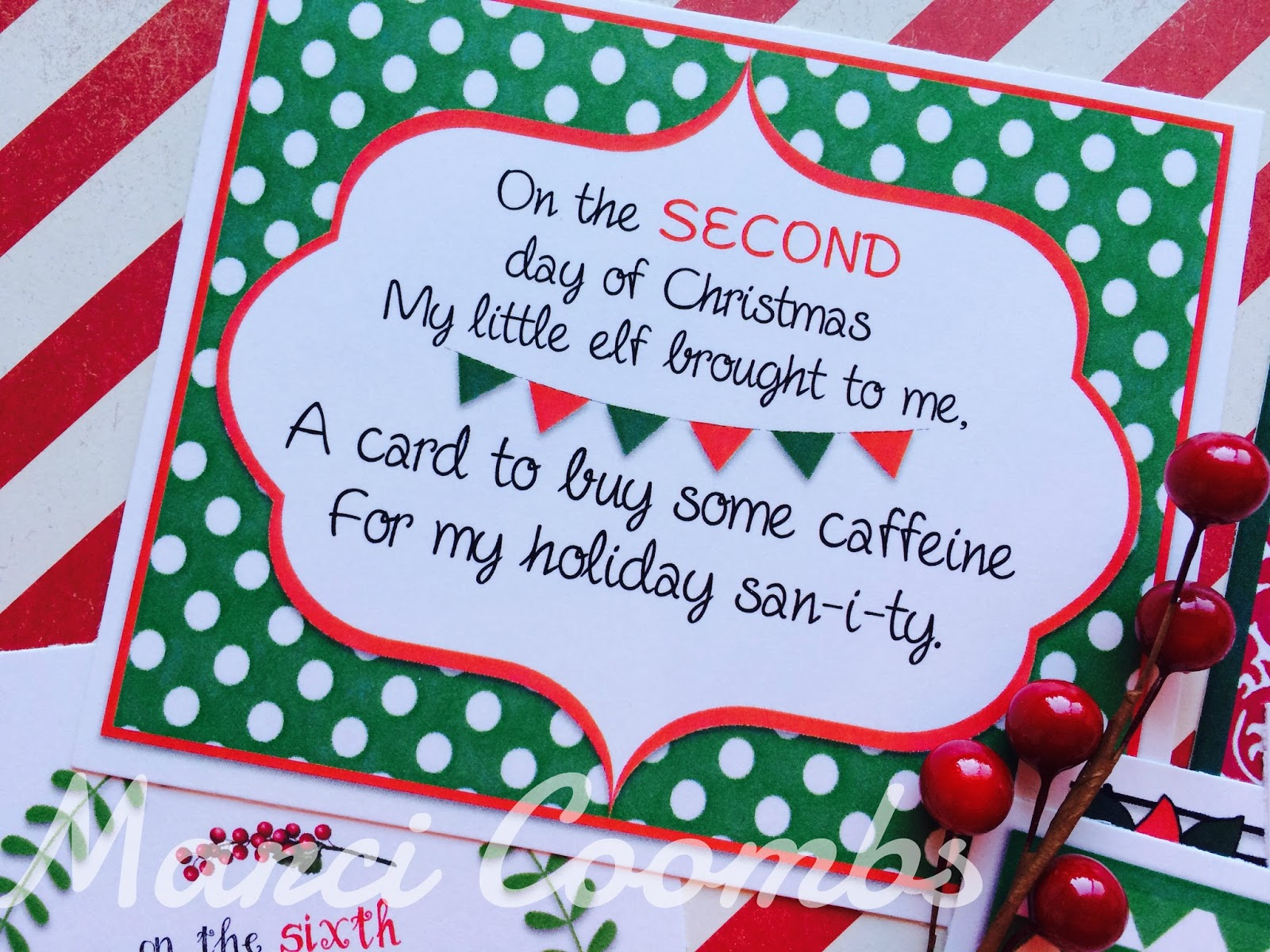 Marci Coombs 12 Days Of Christmas Printable Tags Other